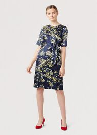 Madeline Floral Dress, Midnight Multi, hi-res