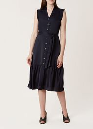 Selma Dress, Navy, hi-res