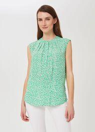 Lillie Floral Blouse, Green Multi, hi-res