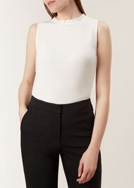 Sleeveless Molly Top, Ivory, hi-res