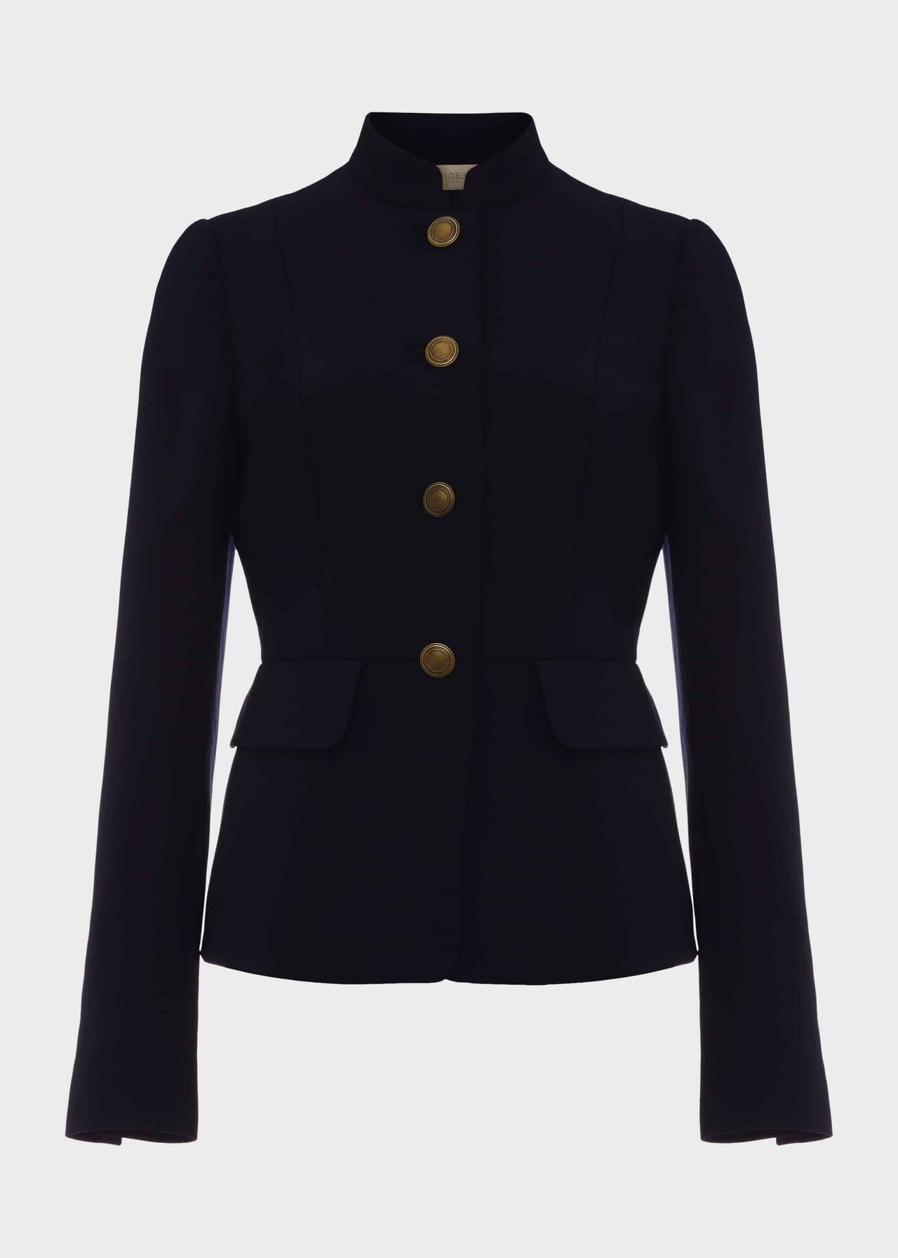Angelica Wool Blend Military Jacket Navy