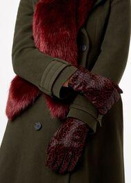 Emma Glove, Red Leopard, hi-res