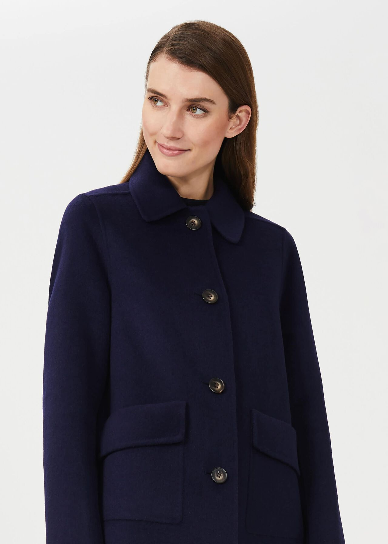 Leanna Wool Blend Double Face Coat, French Blue, hi-res