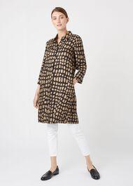 Aubery Dress, Black Gold, hi-res