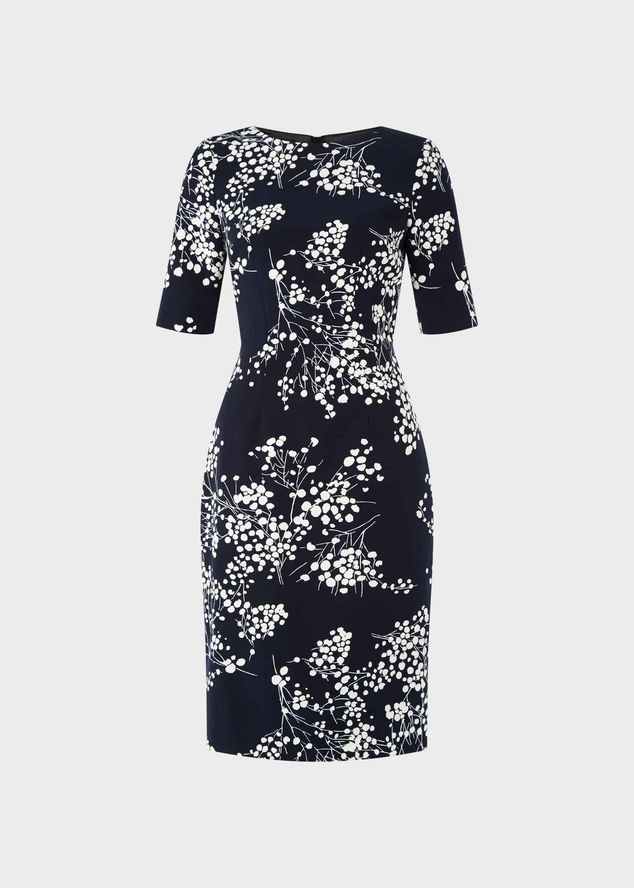 Astraea Floral Shift Dress Navy Ivory