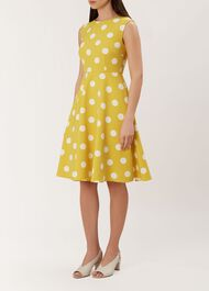 Kara Dress, Citrine Ivory, hi-res