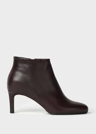 Lizzie Leaher Stiletto Ankle Boots, Mulberry, hi-res