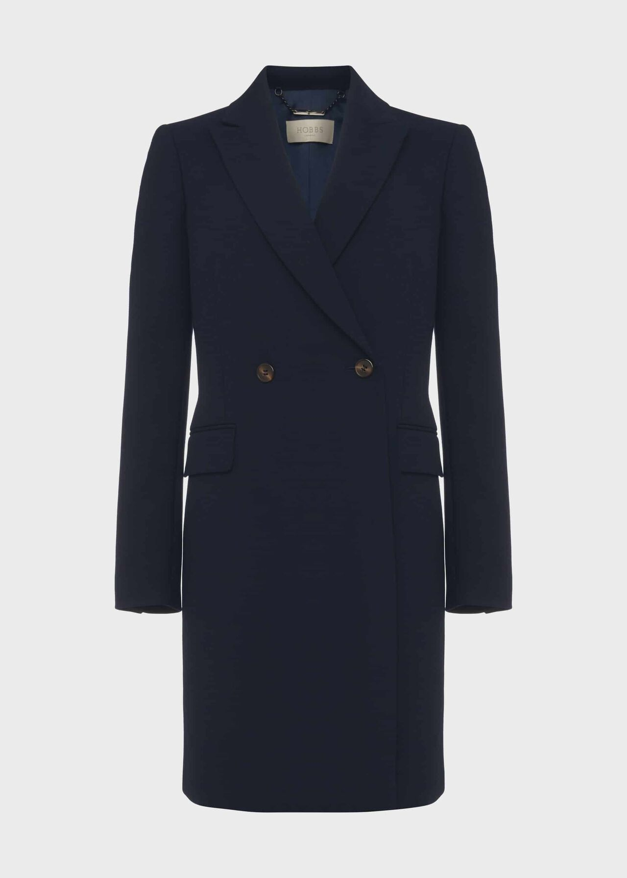 Melanie Double Breasted Coat With Wool New Navy