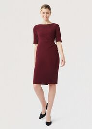 Geraldine Dress, Burgundy, hi-res