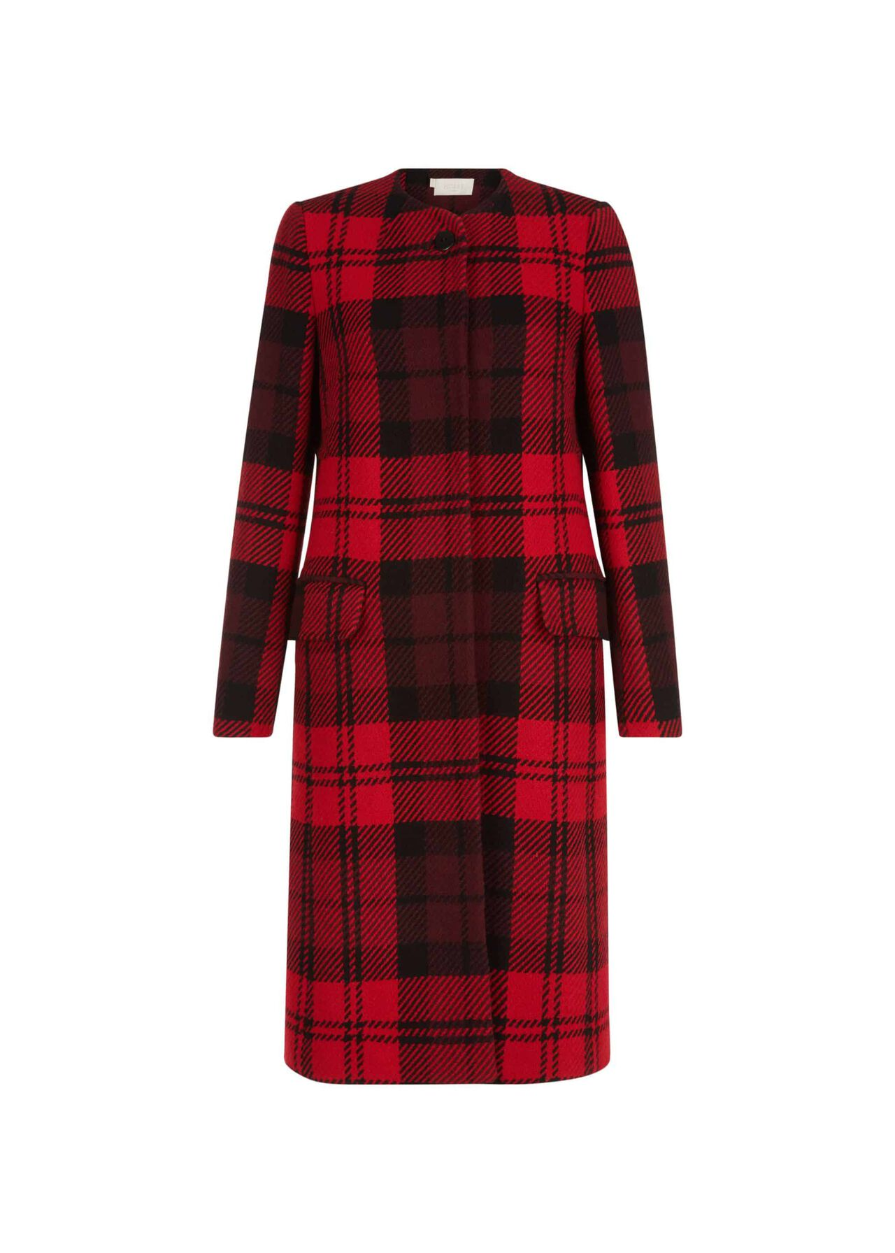 Lavinia Wool Blend Coat Red Black