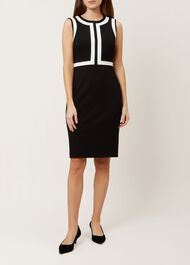 Jackie Dress, Black Ivory, hi-res