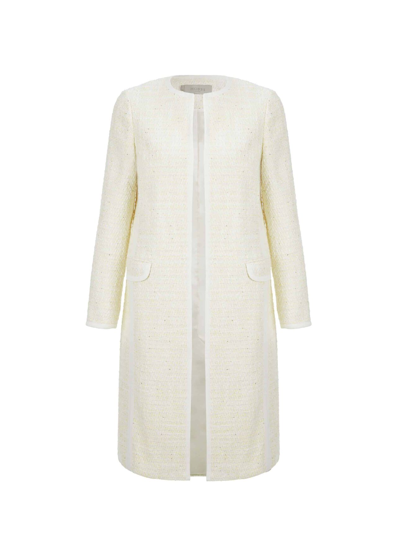 Elva Coat Ivory Yellow