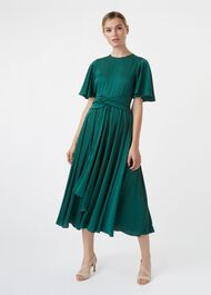 Leia Dress, Emerald Green, hi-res