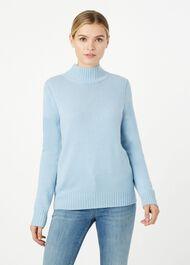 Freda Merino Wool Blend Sweater, Pale Blue, hi-res