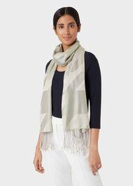 Sienna Silk Scarf, Oyster, hi-res