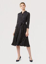 Lainey Dress, Navy Bamboo, hi-res