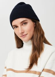 Mabel Cashmere Hat, Navy, hi-res