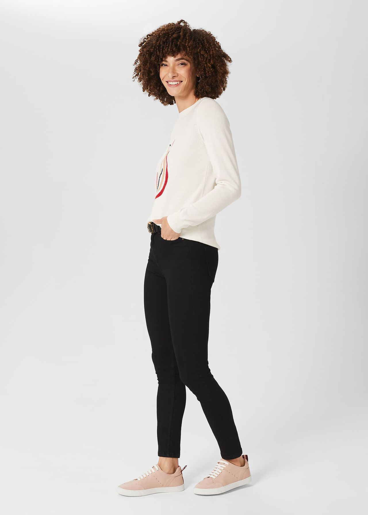 Hannah Jumper with Cashmere, Ivory, hi-res