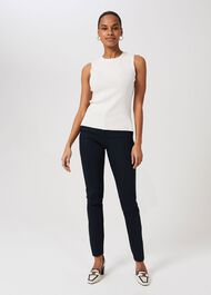 Petite Summer Gael trousers With Stretch, Navy, hi-res