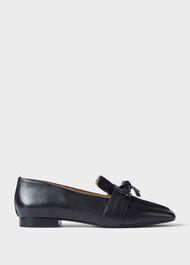 Lauren Leather Loafers, Black, hi-res