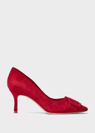 Alison Suede Stiletto Court Shoes, Red, hi-res
