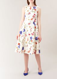 Cleo Dress, Ivory Multi, hi-res