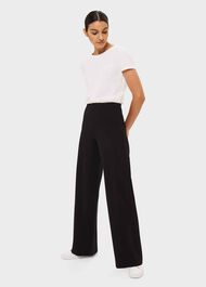Pippa Jersey Wide Trouser, Black, hi-res