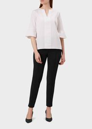 Adrianna trousers With Stretch, Black, hi-res