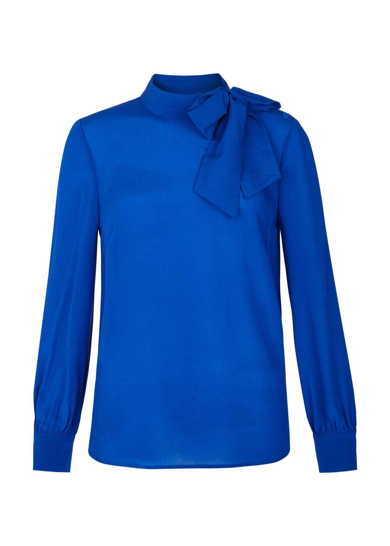 Quinn Silk Top Cobalt Blue