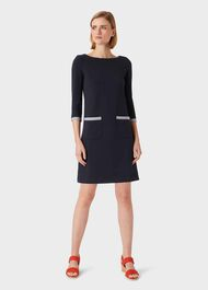Sorcha Dress, Navy, hi-res