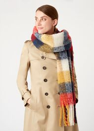 Polly Scarf, Navy Ochre, hi-res
