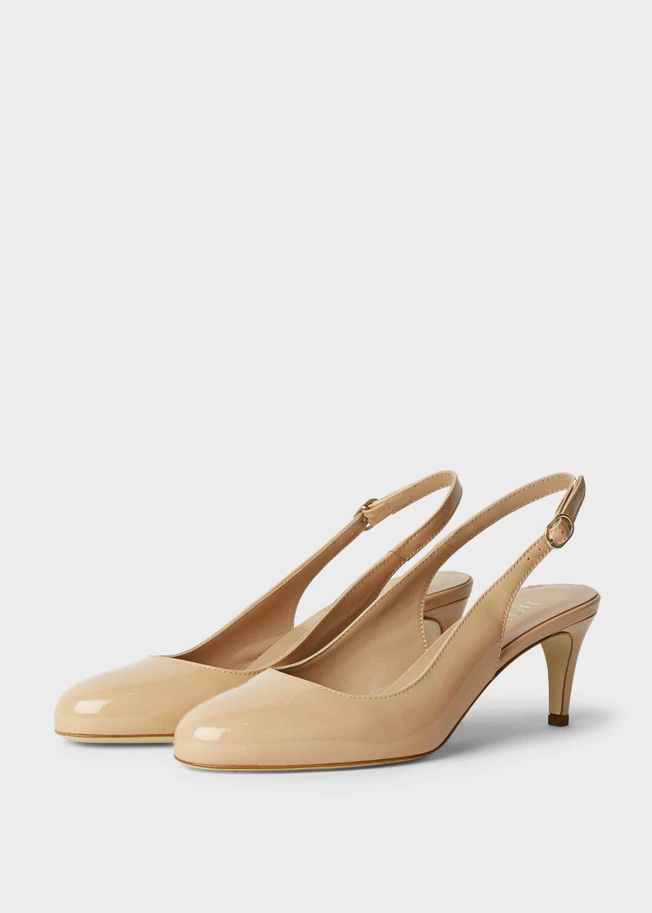 Emma Patent Stiletto Slingback Court Shoes Light Nude