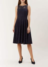 Ashling Lace Dress, Midnight, hi-res