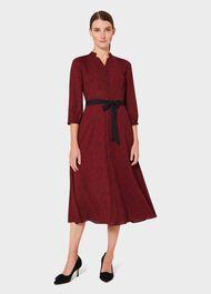 Petite Cece Crepe Shirt Dress, Merlot Black, hi-res