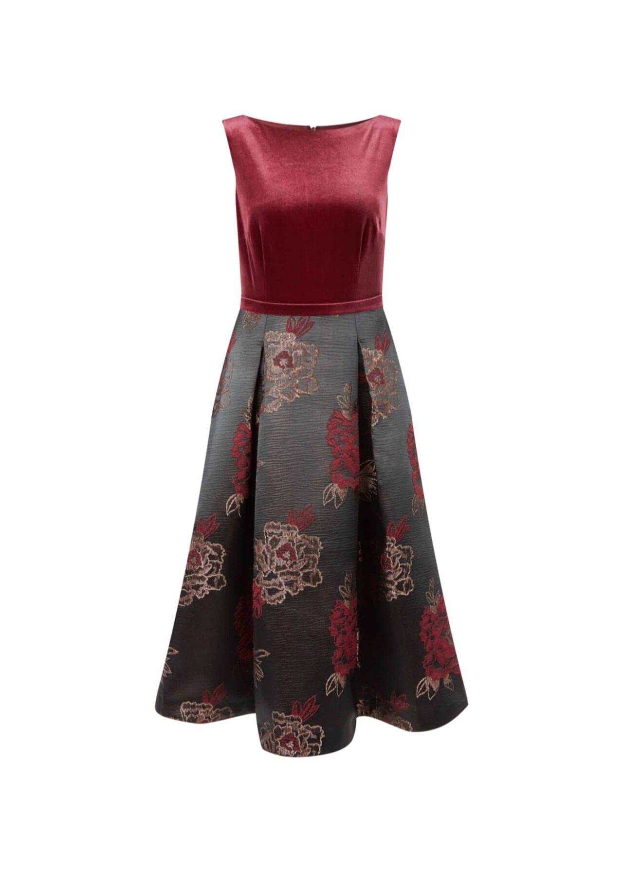 Belle Dress Plum Black