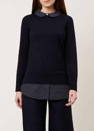 Venessa Sweater, Navy, hi-res