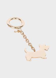 Scottie Dog Keyring, Gold, hi-res