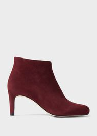 Lizzie Suede Stiletto Ankle Boots, Wine, hi-res