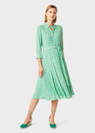 Frederica Floral Midi Dress, Green Multi, hi-res