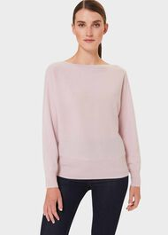 Joanna Cashmere Batwing Sweater, Pale Pink, hi-res