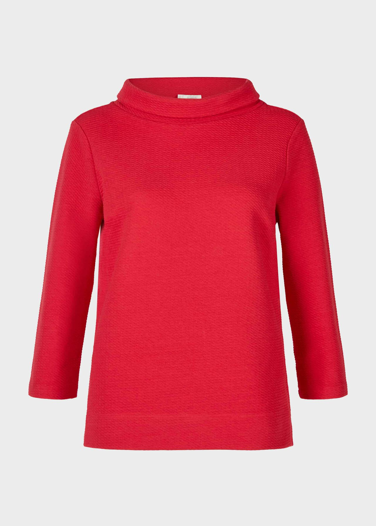 Betsy Textured Top With Cotton Scarlet Red