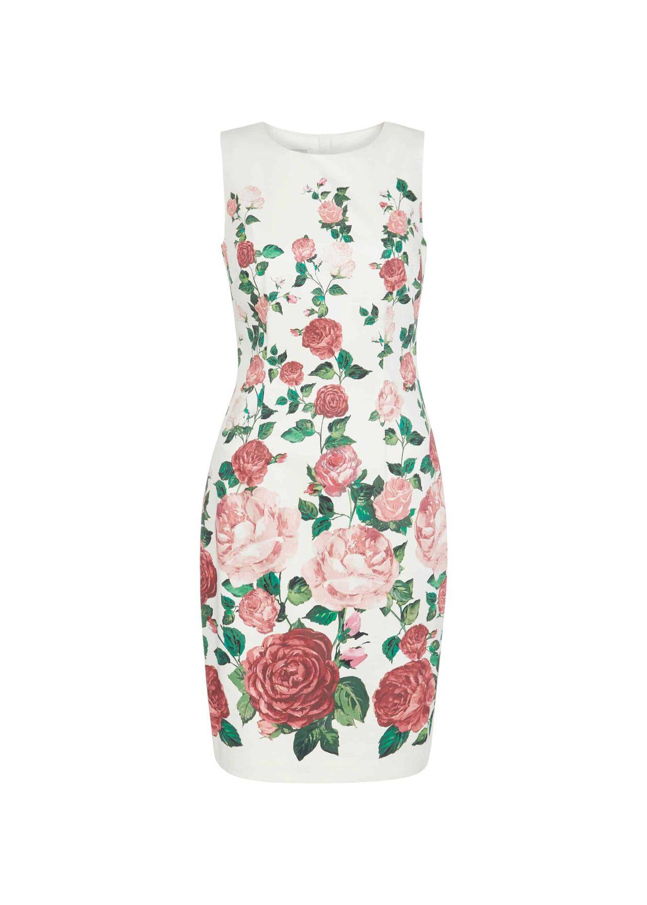 Victoria Rose Shift Ivory Pink Mlt