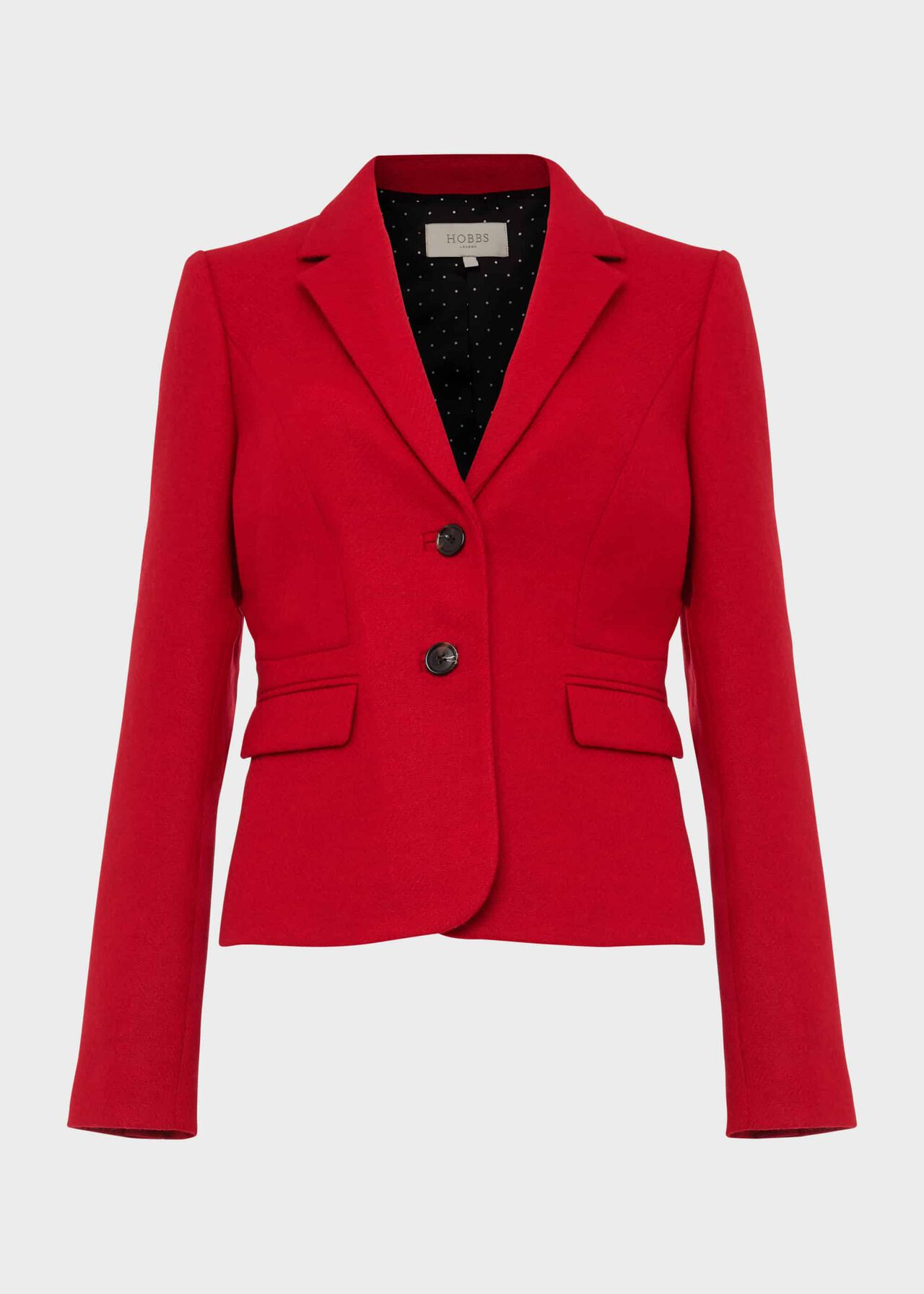 Hackness Wool Jacket Hobbs Red