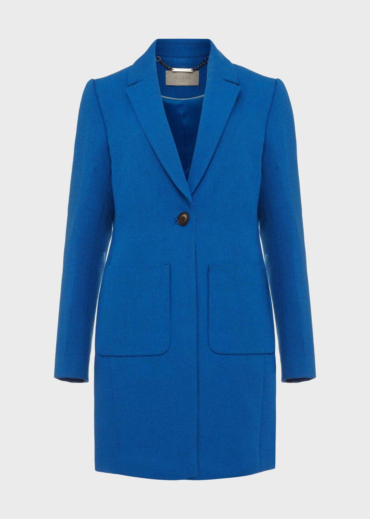 Corina Coat With Wool, Azure Blue, hi-res