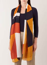 Nicole Scarf, Orange, hi-res