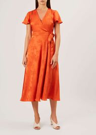 Eleanor Dress, Orange, hi-res