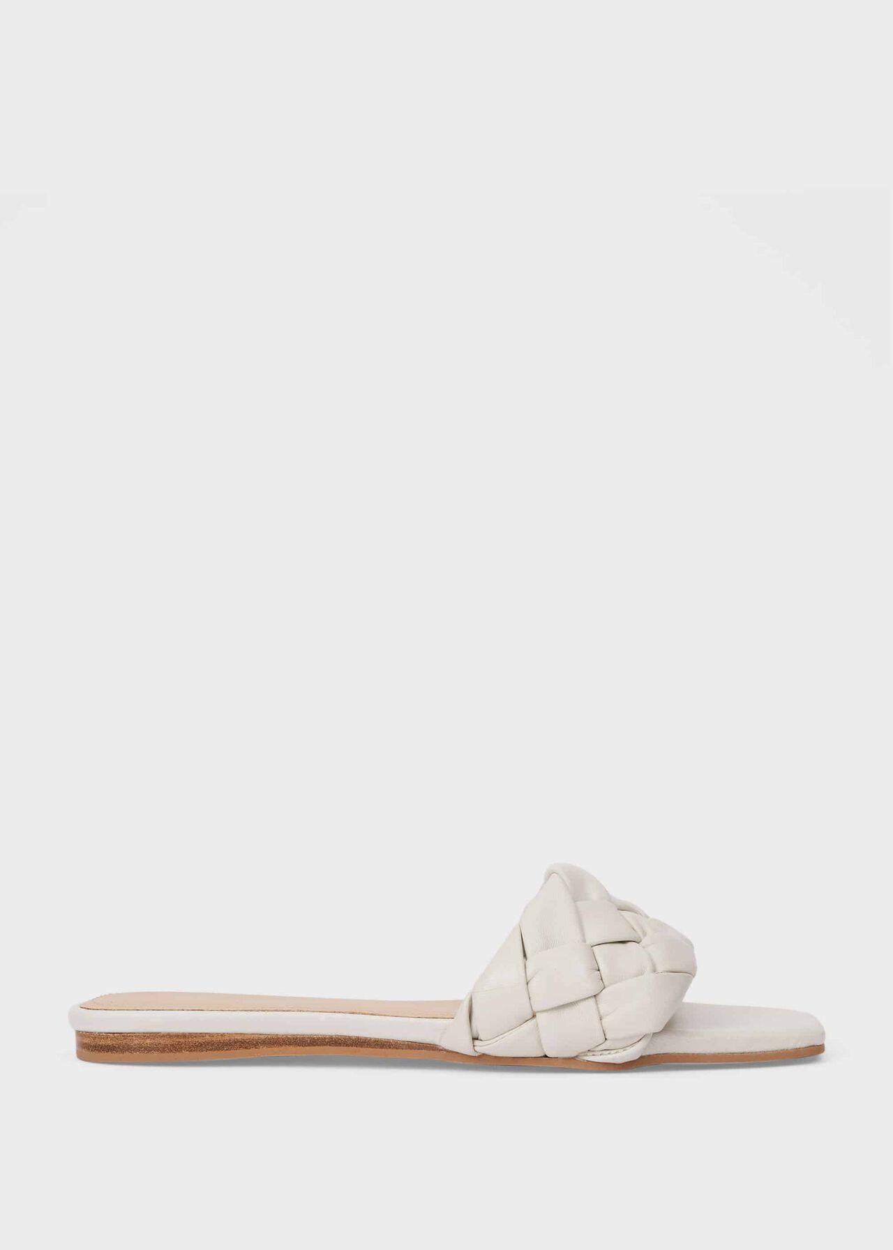 Wren Leather Sandals, White, hi-res