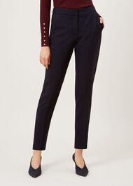 Gael Wool Blend trousers, Navy, hi-res