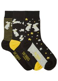 Bunny Sock Set, Black Multi, hi-res