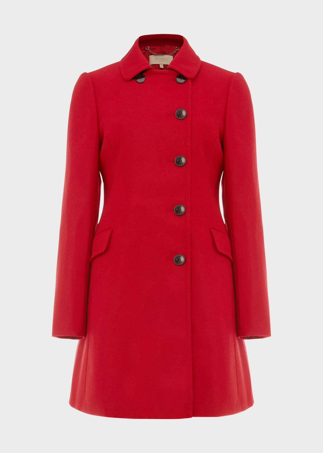 Odette Wool Coat Red